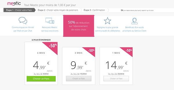 code promo meetic abonnement 5 euros par mois